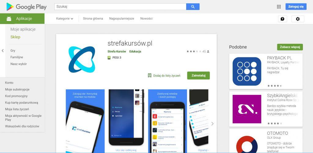 Strefa Kursów na Androida
